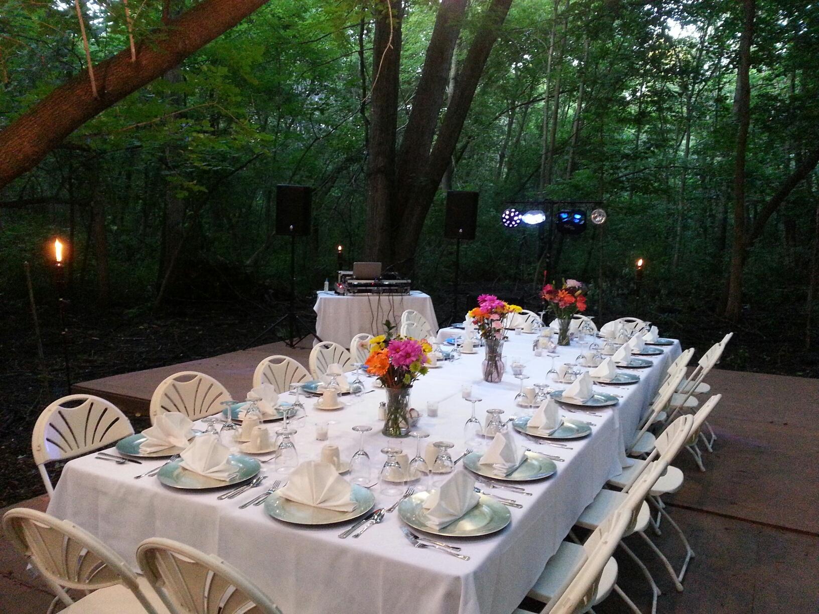 Minnesota Outdoor Wedding Dinner